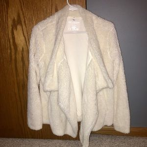 Juicy Couture cream fluffy cardigan
